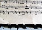 notes, piano, sheet music