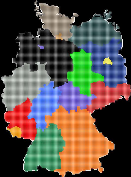 germany map regions website t shirt