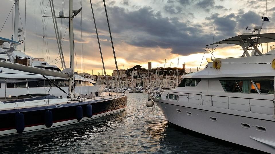 Démarrage, Cannes, Old Town, France, Port