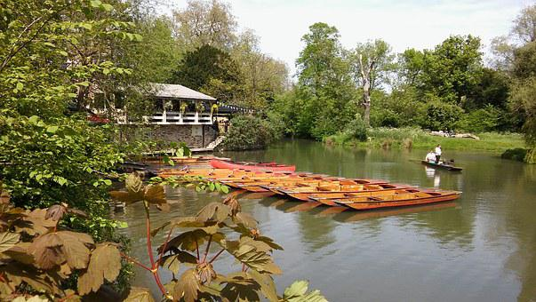 Cambridge, Uk, Punts, English