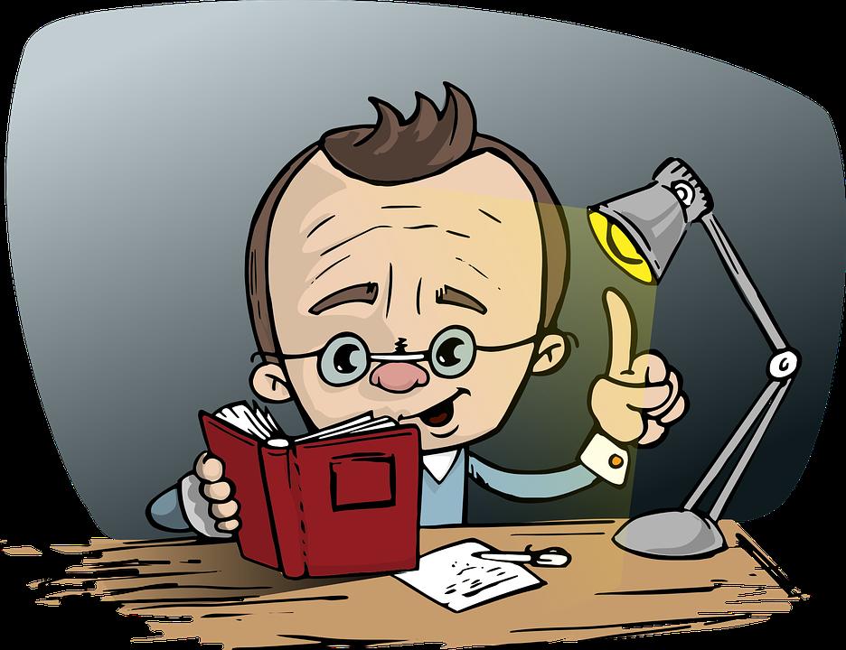 Homem, Leitura, Livro, Óculos, Ponto, Idéia, Luz