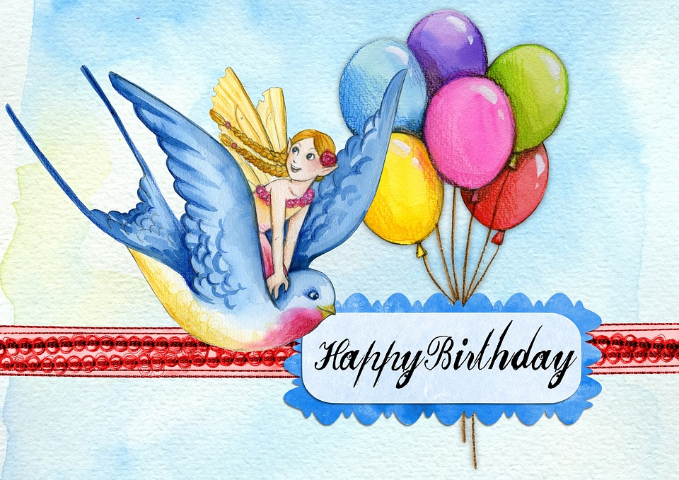 Happy birthday greeting card free image on pixabay happy birthday greeting card message balloon bird bookmarktalkfo Images