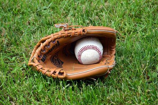 棒球, 手套, 球, 运动, 棒球手套, 皮革, 播放, 玩耍, 设备