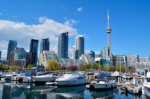 Toronto, Canada, Cn Tower, Skyscrapers
