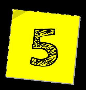 5, 番号, ランキング, 評価, ビジネス, シンボル, アイコンを, レート