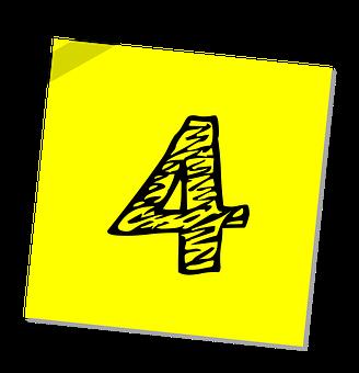 4, 番号, ランキング, 評価, ビジネス, シンボル, アイコンを, レート