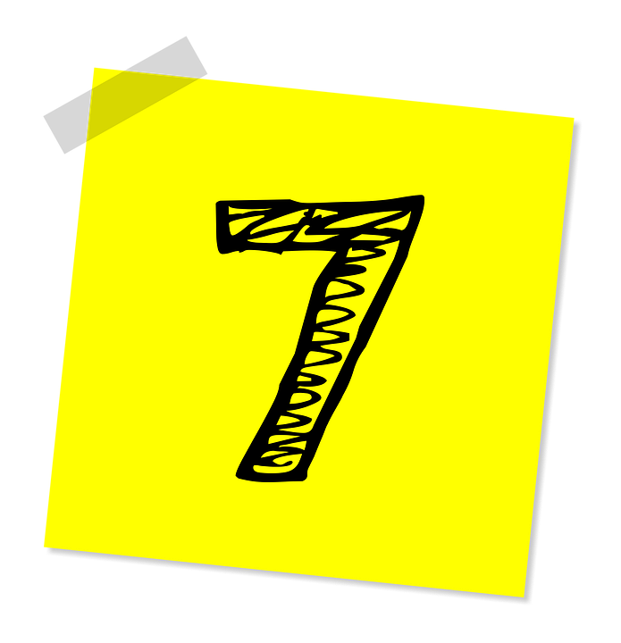 Seven, 7, Number, Ranking, Rating, Business, Symbol