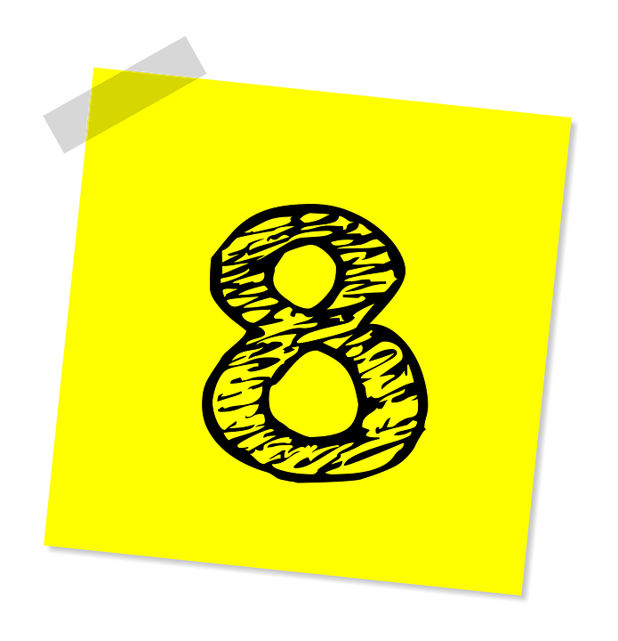 Eight, 8, Number, Ranking, Rating, Business, Symbol