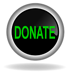 donate, charity, button