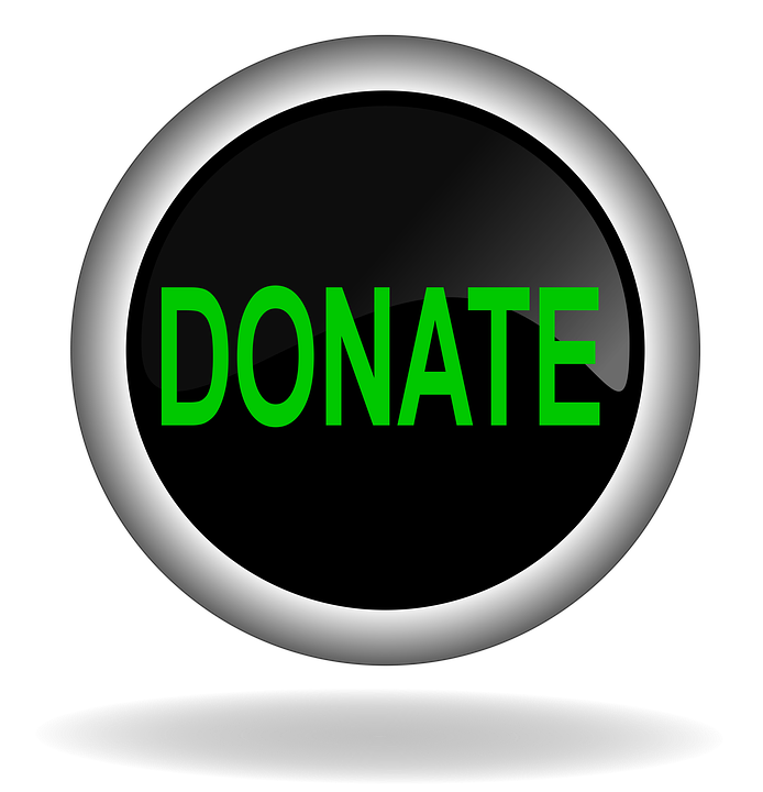 Donate, Charity, Button, Icon, Back, Web, Internet