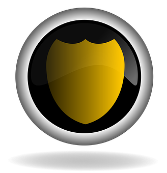 Protection, Shield, Button, Icon, Back