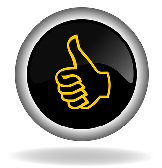 Thumb Up Like Button Icon Back Web In