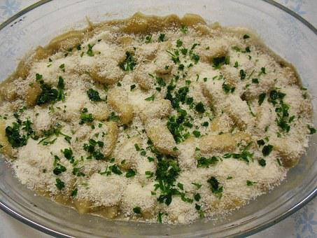 Potato Gnocchi, Cheese, Gratin, Gnocchi