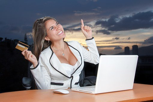 Business Woman Attractive Corporate Online