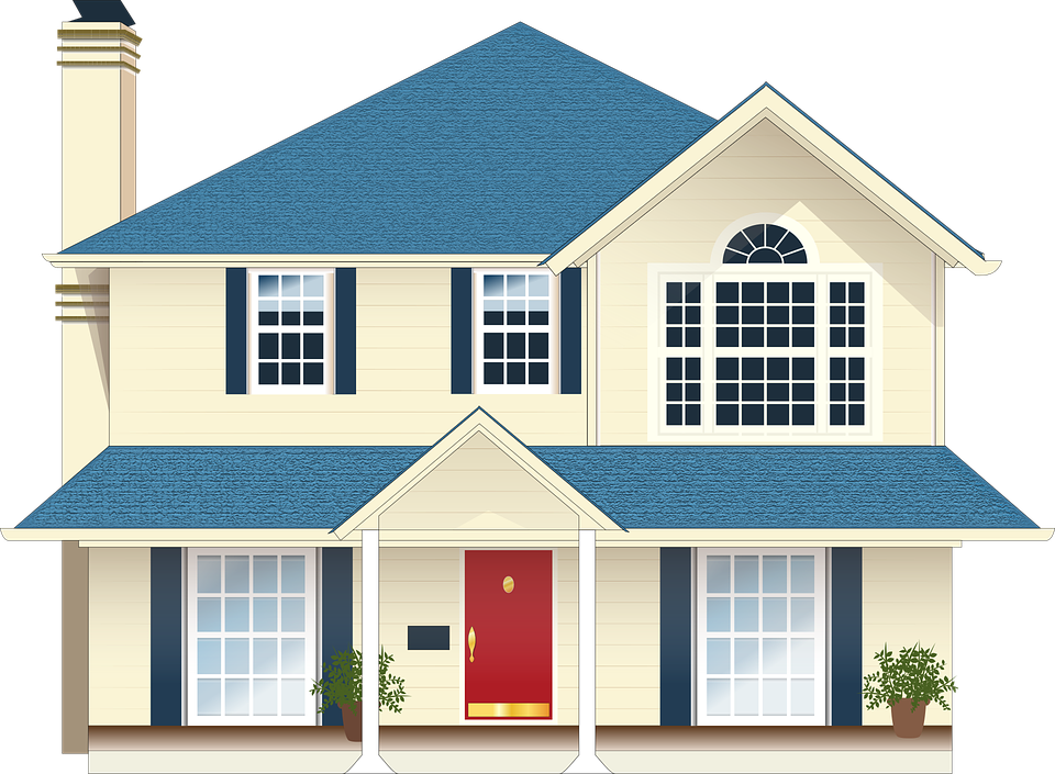 Free vector graphic house residence blue free image Home estate