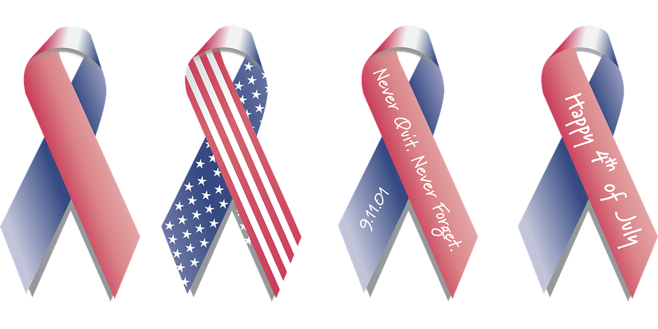 682329b38872 Ribbon American Flag Background - Free vector graphic on Pixabay