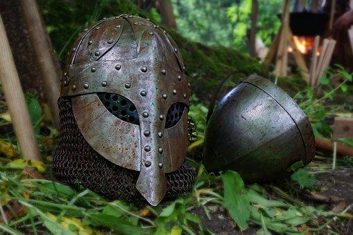 中世, ヘルム, ナイト, 鎧, Ritterruestung, 金属