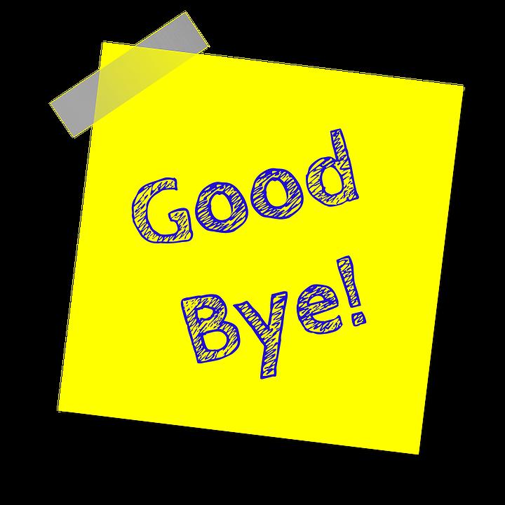 Auf Wiedersehen Gelb Hinweis · Kostenloses Bild auf Pixabay