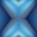 converging, lines, blue