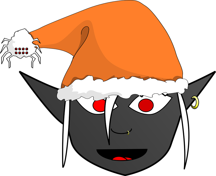 Free vector graphic: Christmas, Drow, Dark Elf, Funny - Free Image ...