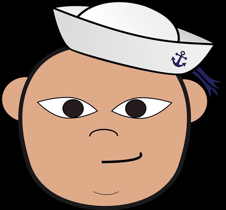 sailor clip art head free vector graphic on pixabay rh pixabay com navy clipart black and white navy clip art designs