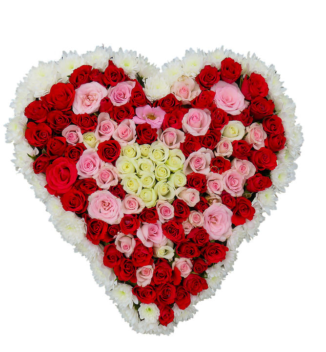 Heart Flowers Roses Love Birthday Bouquet