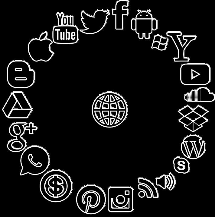 Media sosial struktur internet · gambar gratis di pixabay