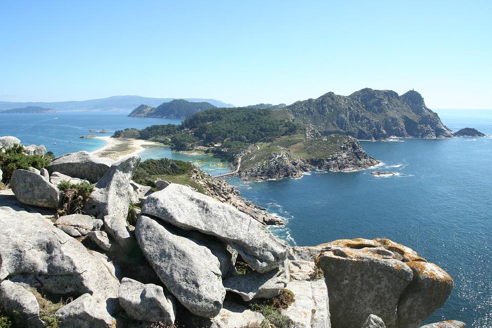 Costa, Mar, Naturaleza, Rocas, Islas Cíes, Vigo