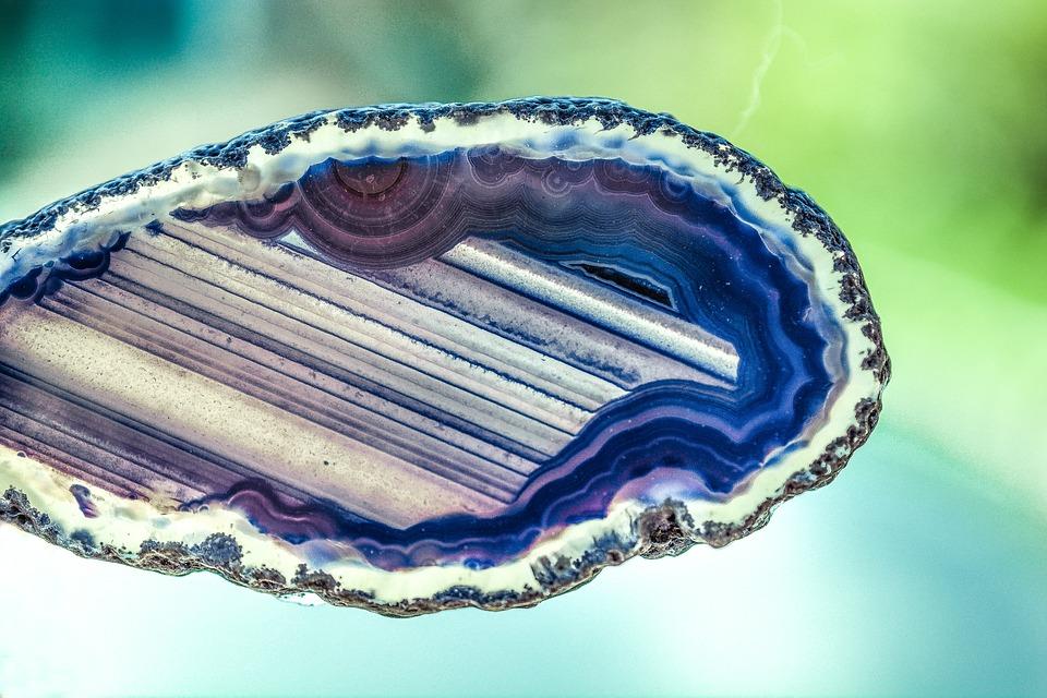 Agata, Di Pietra, Gemma, Minerale, Birthstone, Naturale