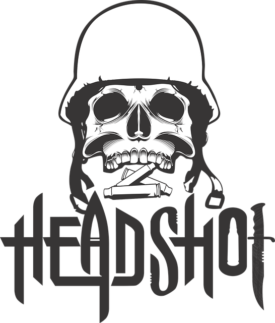 Free Vector Graphic Printing On T Shirt Skull Helmet