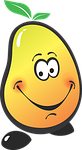 mango, fruit, jolly