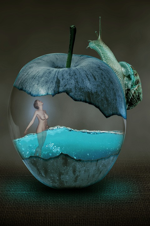 Free Illustration Fantasy Surreal Apple Snail Free