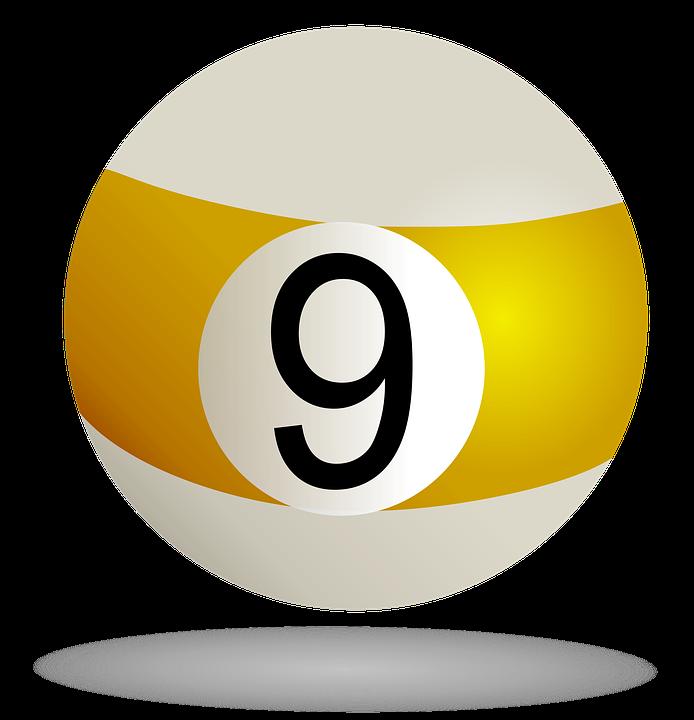 Free illustration: Billiard Ball Striped Yellow