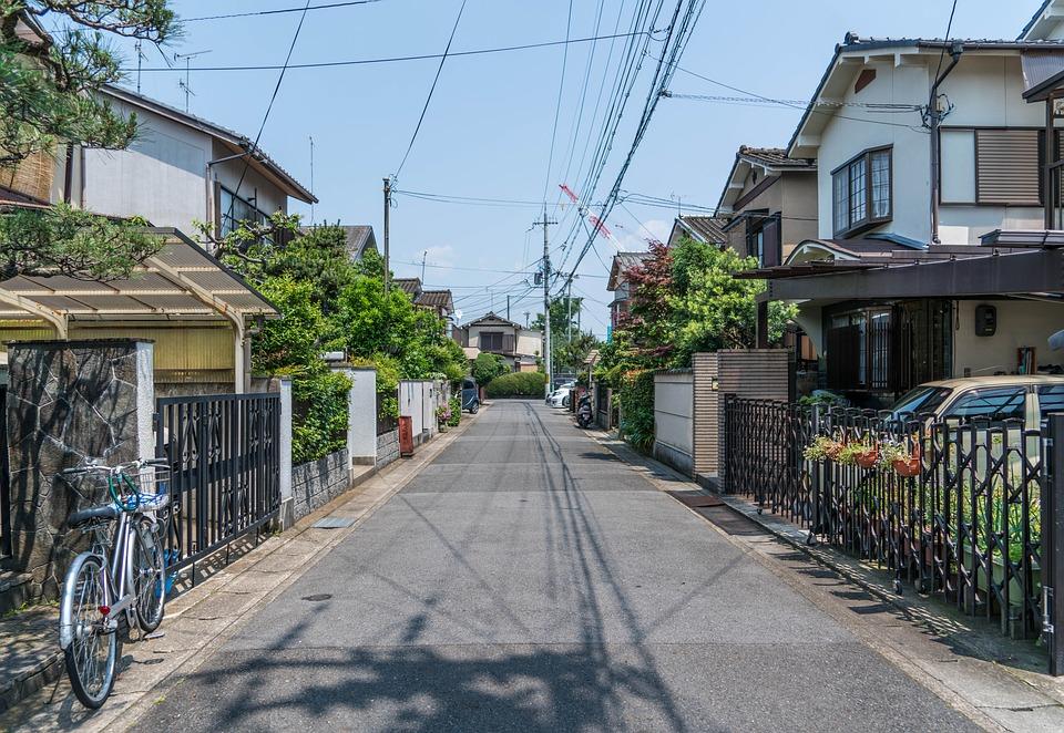 日本, 嵐山, 近所, 住宅, 京都, 旅行, 日当たりの良い, アジア, 夏, 屋外, 太陽