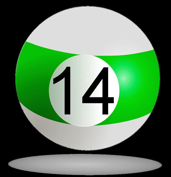 billiard ball green 14 pool billiard game striped