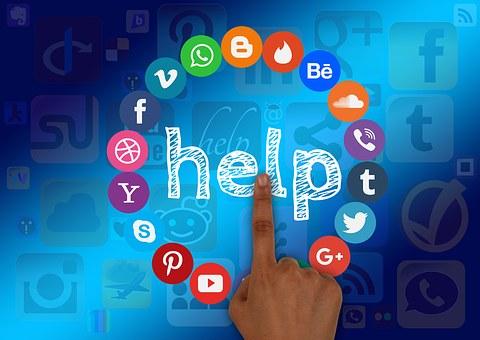 Social Media, Help, Support, Finger