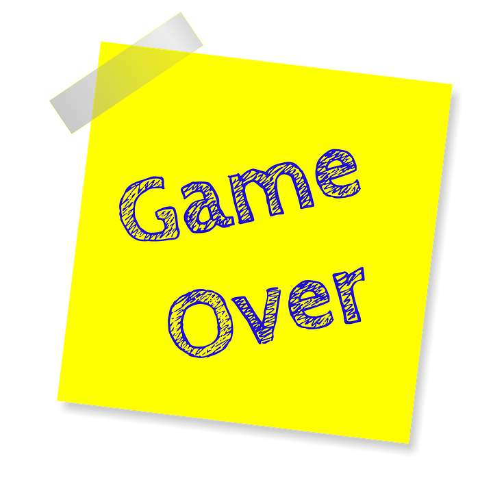 Game Over Reminder Post Note Sticker Sticky Paper