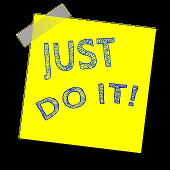 Just Do It, Reminder, Post Note, Sticker
