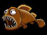 lantern fish, fish, jaw