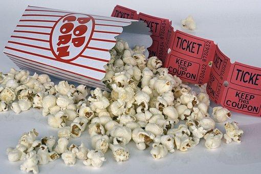 Popcorn, Elokuva, Lippu, Viihde, Ruoka