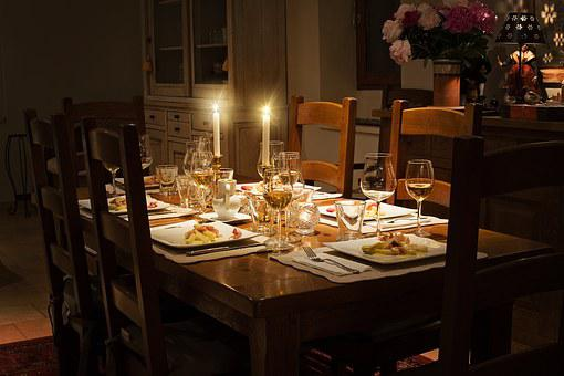 Dinner, Table, Home, Setting
