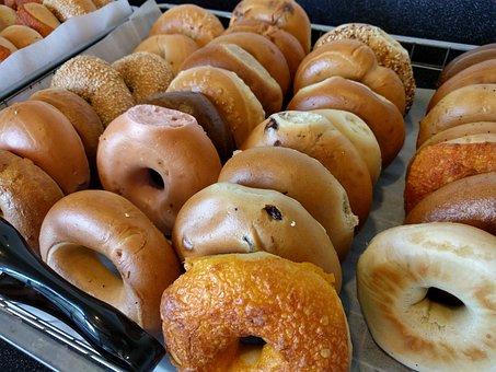 ベーグル, 朝食, 炭水化物ダイエット, ダイエット, 穀物, 炭水化物