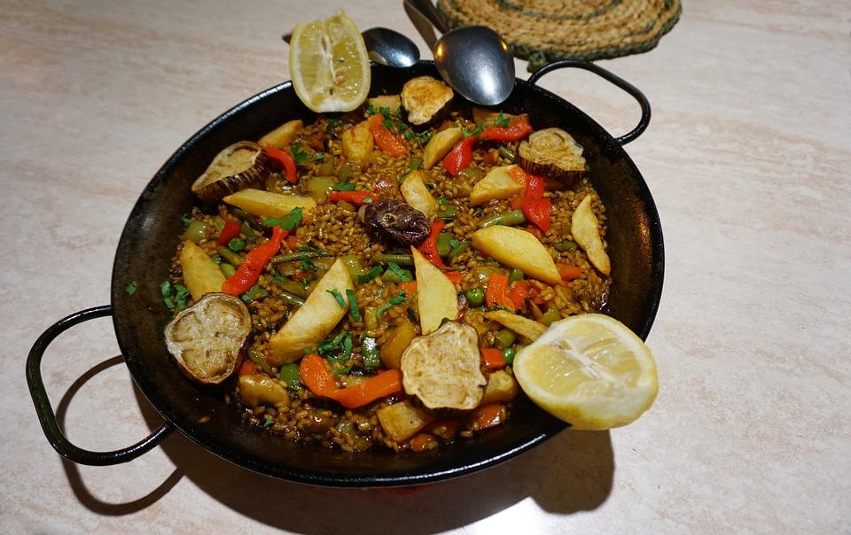 Paella Di Vegan, Spagna, Paella De Verduras, Verdure