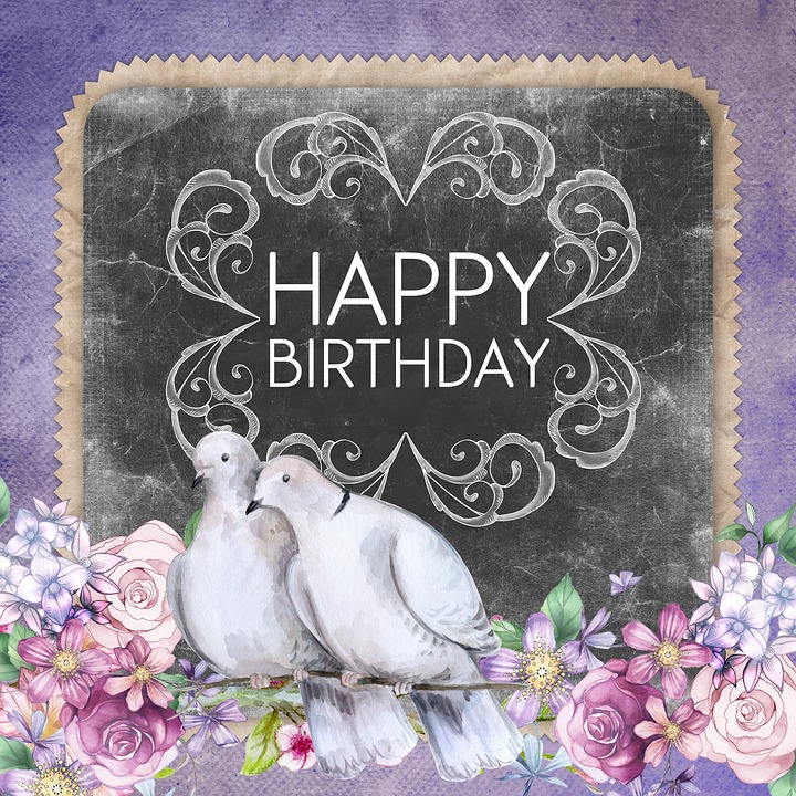 Happy birthday greeting card free image on pixabay happy birthday greeting card doves calligraphy m4hsunfo