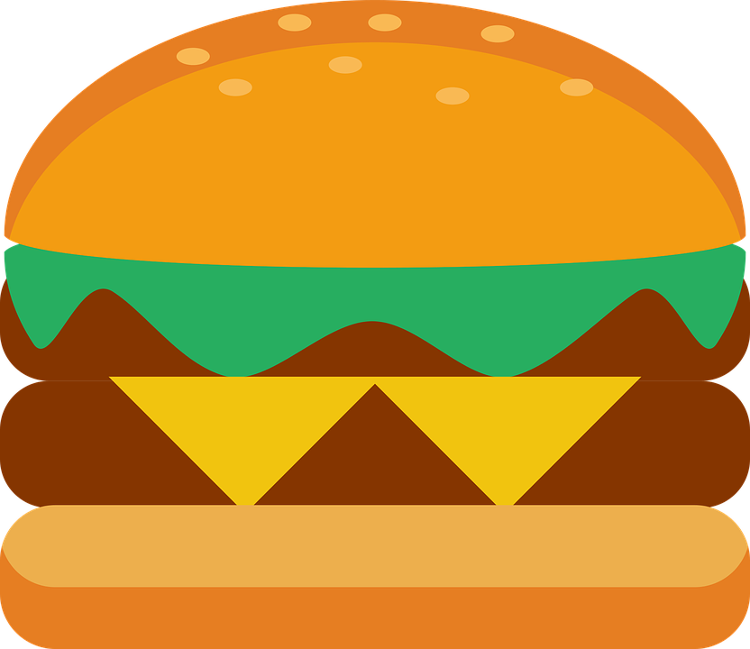 Vector gratis: Hamburguesa, Pan, Alimentos, Queso - Imagen