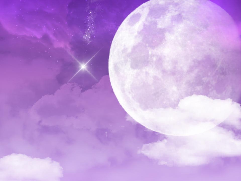 Purple sky star free image on pixabay - Purple moon wallpaper ...