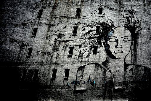 Street Art, Graffiti, Drawing, Creative