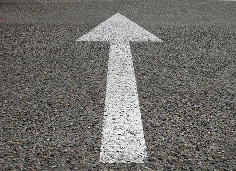 Street, Arrow, Sign, Way, Direction