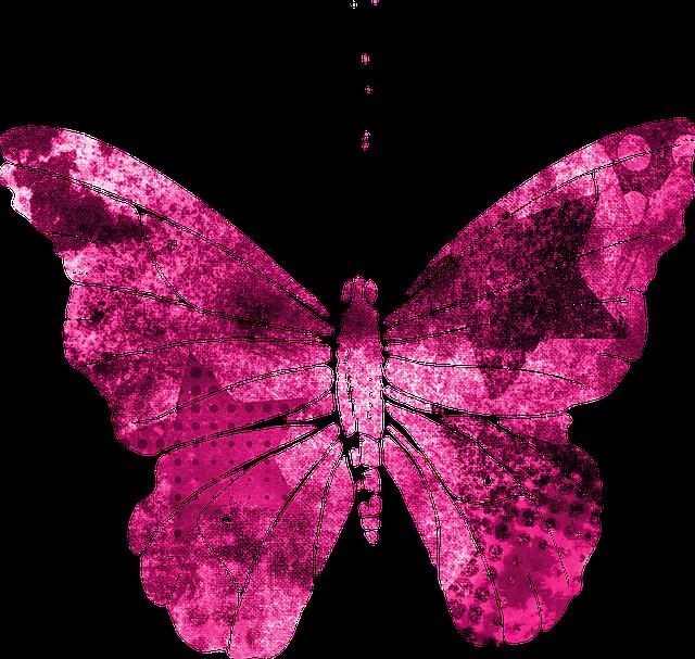 hd cute pink butterfly - photo #16
