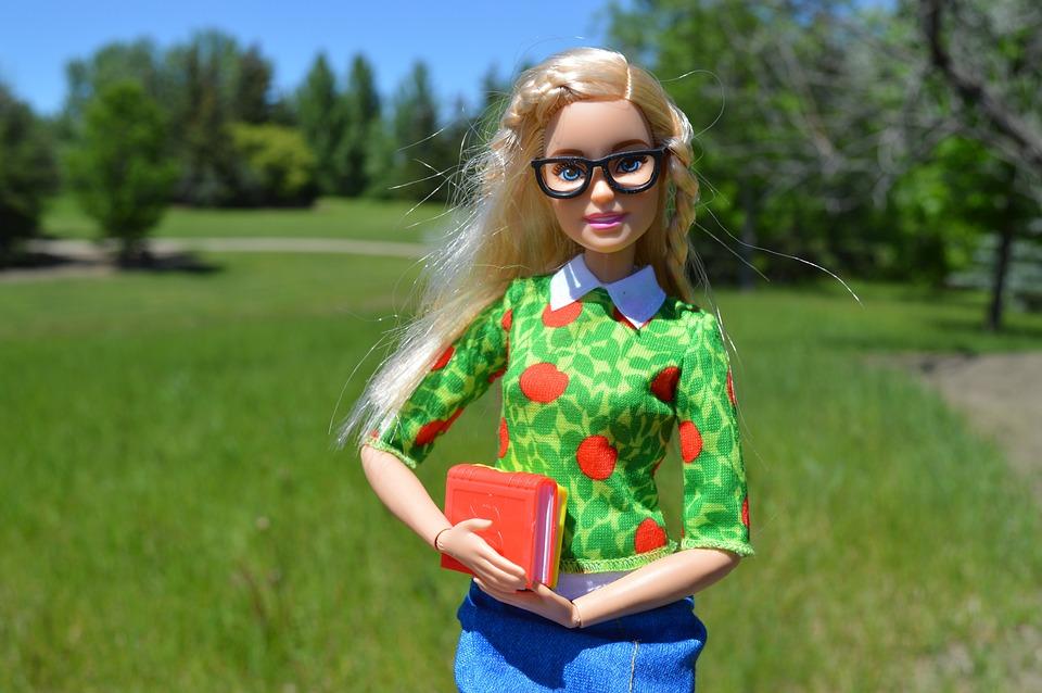 Barbie, Muñeca, Los Libros, Gafas, Rubia, Estudiante